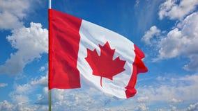Флаг на небе Стоковая Фотография