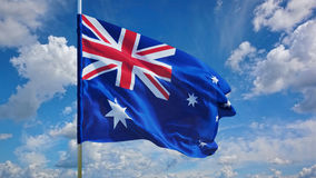 Флаг на небе Стоковое Изображение RF
