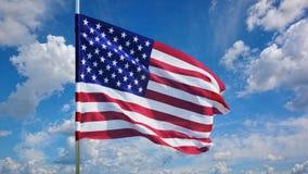 Флаг на небе Стоковые Фотографии RF