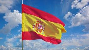 Флаг на небе Стоковые Фото