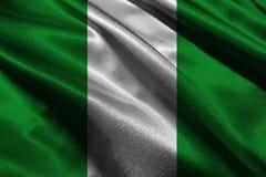 Флаг Нигерии, символ иллюстрации национального флага 3D Нигерии Стоковое фото RF