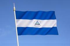флаг Никарагуа Стоковые Фото
