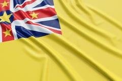 Флаг Ниуэ Стоковое Изображение RF