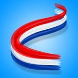 Флаг Нидерланды значит голландца и Европы евро Стоковое Фото