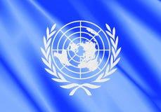 Флаг ООН Стоковое Изображение