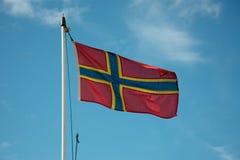 Флаг оркнейских остров Стоковые Изображения