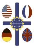 Флаг пасхи Стоковые Изображения RF