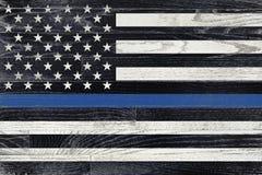 Флаг поддержки правоохранительных органов Стоковое Изображение