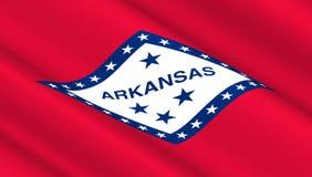 Флаг положения Арканзаса Стоковые Фотографии RF
