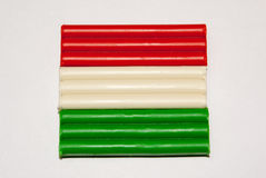 Флаг положения глины Стоковые Изображения RF