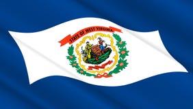 Флаг положения Западной Вирджинии Стоковые Фото