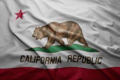 Флаг положения Калифорнии иллюстрация штока