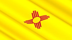 Флаг положения Неш-Мексико Стоковая Фотография RF