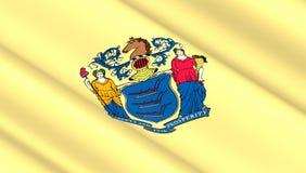 Флаг положения Нью-Джерси Стоковая Фотография RF