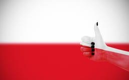 флаг Польша Стоковое Фото