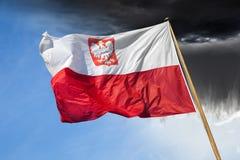 флаг Польша Стоковое Изображение RF