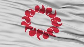 Флаг префектуры Saitama Японии крупного плана Стоковое Изображение