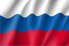 флаг предпосылки голубой flags развевать вектора России золота рамки Стоковые Изображения RF