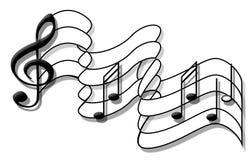 Флаг примечания музыки Стоковое Фото