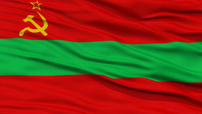 Флаг Приднестровье крупного плана Стоковое фото RF