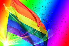 Флаг радуги Стоковые Фото