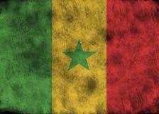 Флаг Сенегала Grunge Стоковые Изображения