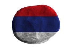 Флаг Сербии, глина флага на белой предпосылке Стоковая Фотография RF