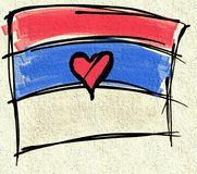 Флаг Сербии Стоковое Фото