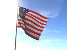 Флаг Соединенных Штатов Америки, США Стоковые Изображения RF