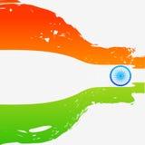 Флаг стиля волны индийский Стоковое Изображение RF