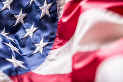 флаг США американский флаг Ветер американского флага дуя Четвертое - 4-ый из июля Стоковое Изображение RF