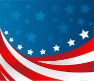 Флаг США в векторе стиля Стоковое Изображение