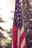 Флаг США в дожде Стоковое Изображение RF