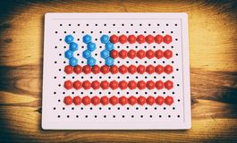 Флаг США мозаики детей Стоковое фото RF