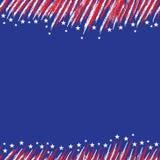 флаг США Плакат с большой поцарапанной рамкой Стоковая Фотография RF