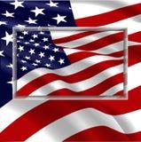 флаг США развевая ветер Стоковая Фотография RF