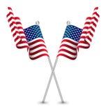 Флаг США развевая Стоковые Фото