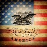 Флаг США усадьбы. Стоковое фото RF