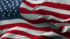 Флаг США дуя на ветре Стоковое Изображение