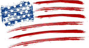 Флаг США Grunge Стоковые Фото