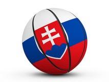 Флаг Словакии шарика баскетбола Стоковые Фото