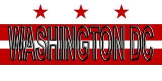 Флаг слова DC Вашингтона Стоковое Изображение RF
