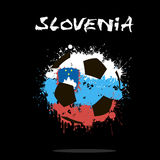 Флаг Словении как абстрактный футбольный мяч Стоковая Фотография