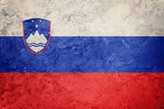 Флаг Словении Grunge Флаг Словении с текстурой grunge Стоковые Фото