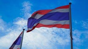 Флаг Таиланда развевая в ветре Стоковые Изображения RF