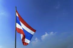 Флаг Таиланда с голубым небом Стоковое Изображение RF