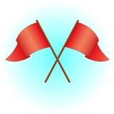 флаг также вектор иллюстрации притяжки corel Стоковая Фотография