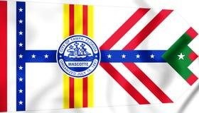 Флаг Тампа Флориды, США иллюстрация 3d Стоковое фото RF