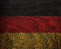 Флаг текстурированный древесиной - Германия Стоковые Фото