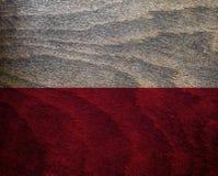 Флаг текстурированный древесиной - Польша Стоковая Фотография RF